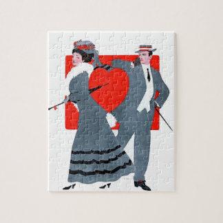 Vintage couple jigsaw puzzle