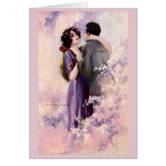Vintage Couple - Rhapsody in Pink, Card