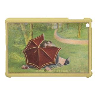 Vintage Couple under umbrella iPad Mini Covers