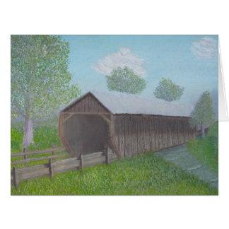 Vintage Covered Bridge Card