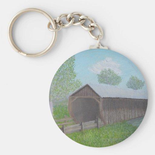 Vintage Covered Bridge Keychains