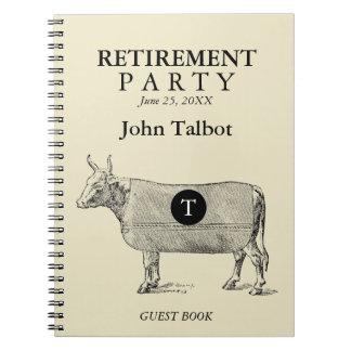 VINTAGE Cow Blanket Retirement Guest Book Monogram