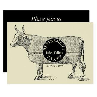 VINTAGE Cow Blanket Retirement Party Invitation 1