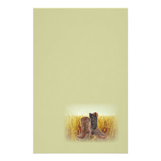 vintage cowboy boots western country fashion stationery