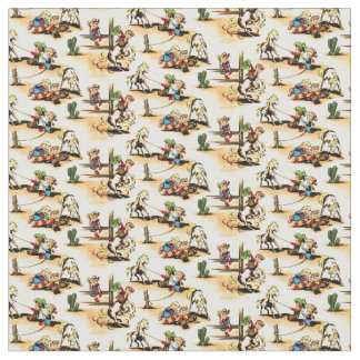 Vintage Cowboy - Cowgirls - Horses - Western Ranch Fabric