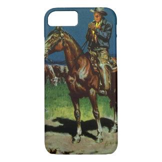 Vintage Cowboy, Farming Cattle Rancher on the Farm iPhone 7 Case