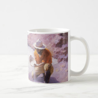 Vintage Cowboy, Panning Gold, Wyoming by Leigh Coffee Mug
