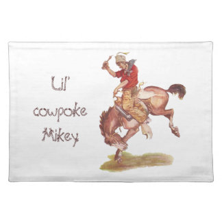 Vintage Cowboy Placemat