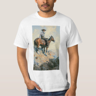 Vintage Cowboy, Sentinel of the Plains By Dunton T-Shirt