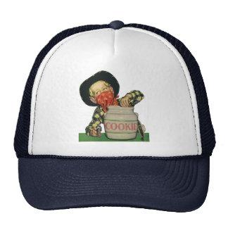 Vintage Cowboy Toy Gun Hand in the Cookie Jar Trucker Hat