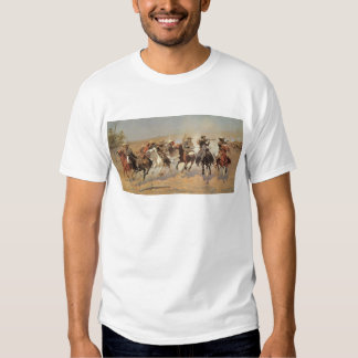 Vintage Cowboys, A Dash For Timber by Remington T Shirt