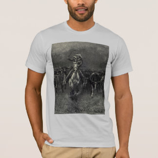 Vintage Cowboys, A Stampede by Frederic Remington T-Shirt