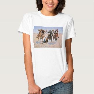 Vintage Cowboys, Aiding a Comrade by Remington T Shirt