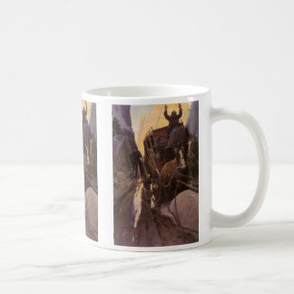 Vintage Cowboys, Hold Up in the Canyon by NC Wyeth Coffee Mug