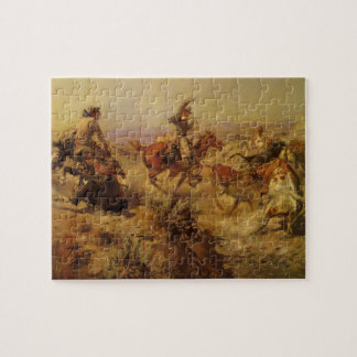 Vintage Cowboys, Jerked Down by CM Russell Puzzles