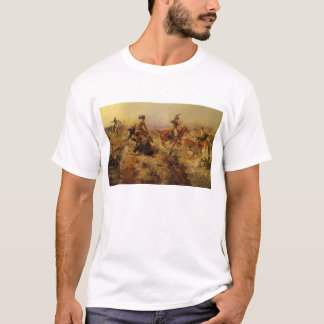 Vintage Cowboys, Jerked Down by CM Russell T-Shirt