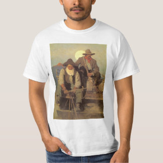 Vintage Cowboys, The Pay Stage by NC Wyeth Tee Shirts