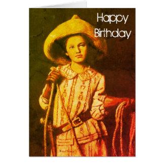Vintage Cowgirl Birthday Card