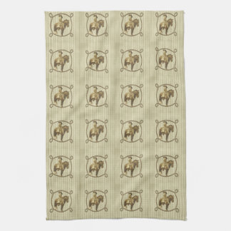 Vintage Cowgirl Hand Towels