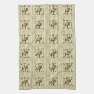 Vintage Cowgirl Kitchen Towel