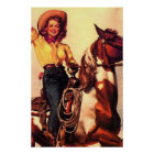 Vintage Cowgirl Poster