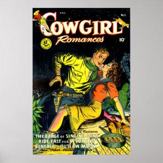 Vintage Cowgirl Romances Gunslinger Poster