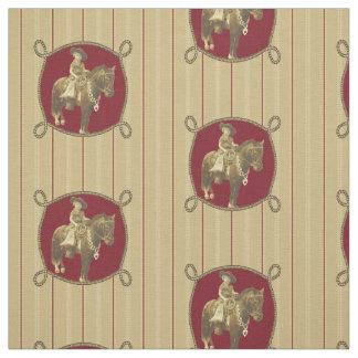 Vintage Cowgirl Western Fabric