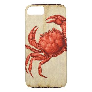 Vintage Crab Design iPhone 7 Case