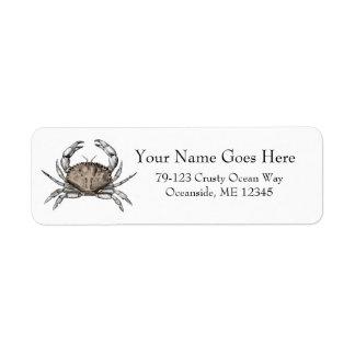 Vintage Crab Return Address Label