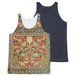 Vintage Craftsman Peacocks Design Tank Top