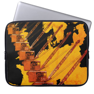VINTAGE CRANE CRANE OPERATOR MAP OF EUROPE LAPTOP SLEEVE