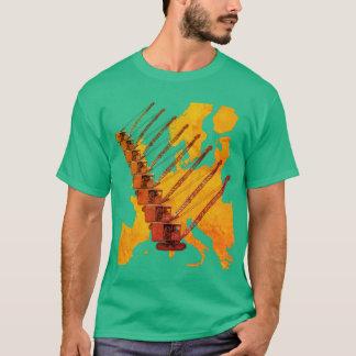 VINTAGE CRANE CRANE OPERATOR MAP OF EUROPE T-Shirt