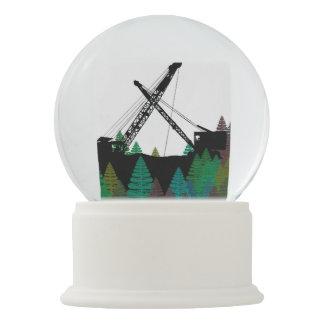Vintage Crane Operator Art Fantasy Northwest Color Snow Globe