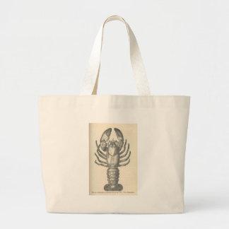 Vintage Crayfish Illustration (1896) Large Tote Bag