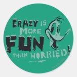 Vintage Crazy DAFFY DUCK™ Round Sticker
