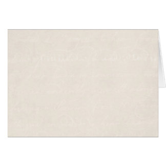 Vintage Cream Parchment Look Old Paper Background Card
