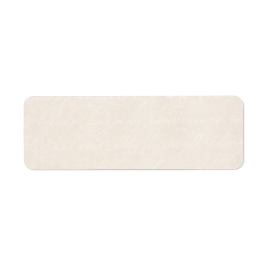 Vintage Cream Parchment Look Old Paper Background Return Address Label