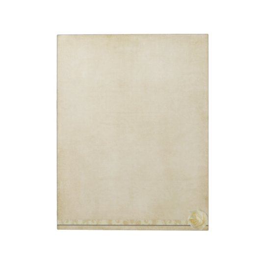 Vintage Cream Rose Notepad