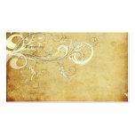 Vintage cream swirls Wedding Directions Business Card Template