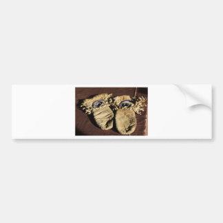 Vintage Cree Mittens Bumper Sticker