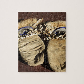 Vintage Cree Mittens Jigsaw Puzzle