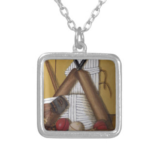 Vintage Cricket Silver Plated Necklace