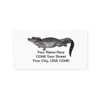 Vintage Crocodile Address Labels
