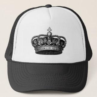 Vintage Crown 02 - Black Trucker Hat