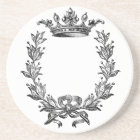 Vintage Crown and Wreath Art Coaster
