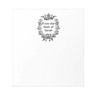 Vintage Crown and Wreath Art Notepad