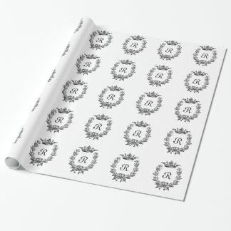 Vintage Crown and Wreath Art Wrapping Paper