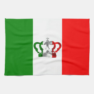 Vintage Crown Modern Italy Italian Flag Kitchen Towel
