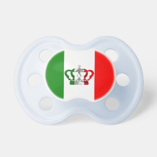 Vintage Crown Modern Italy Italian Flag Pacifier