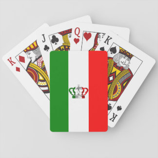 Vintage Crown Modern Italy Italian Flag Playing Cards